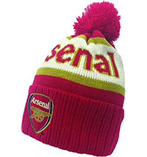 b07295807 Amazon.com : Arsenal F.c Text Cuff Knitted Hat : Sports & Outdoors