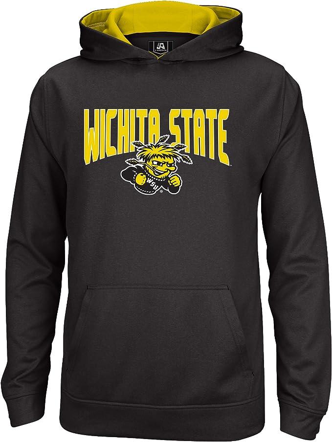 Outerstuff NCAA Men/'s Wichita State Shockers Fan Basic 1//4 Zip Hooded Sweater