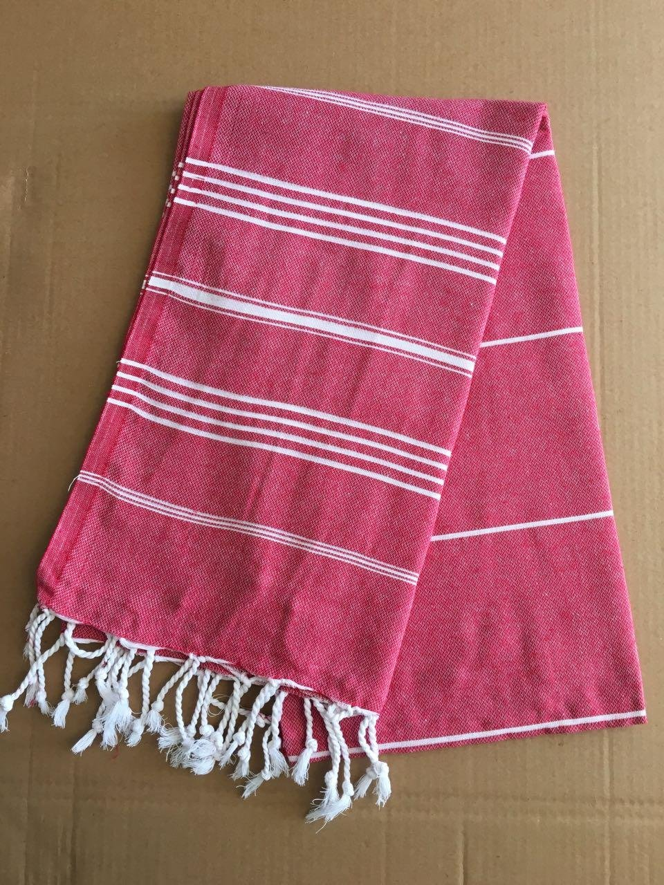 "Paramus Turkish Towel Peshtemal in 100% Cotton for Beach Bath Swimming Pool Yoga Pilates Picnic Blanket Scarf Wrap Hammam Fouta Turkish Bath Towels Beach Towel (37x""70) (red) - 100% COTTON Made in Turkey 95x175 cm (""37x70"" inches) - bathroom-linens, bathroom, bath-towels - 81cQY57wrGL -"