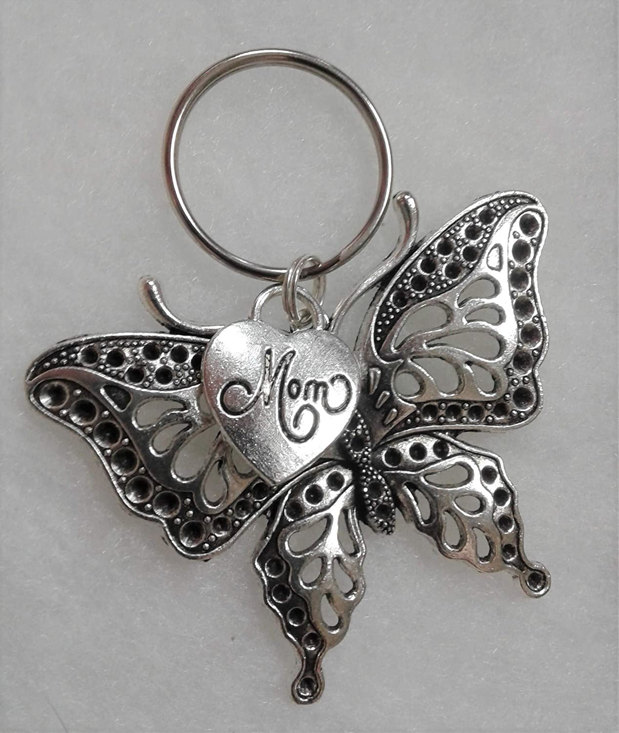 Personalized Bereavement  Photo Memorial Gifts Keyring Butterfly Heaven Angel