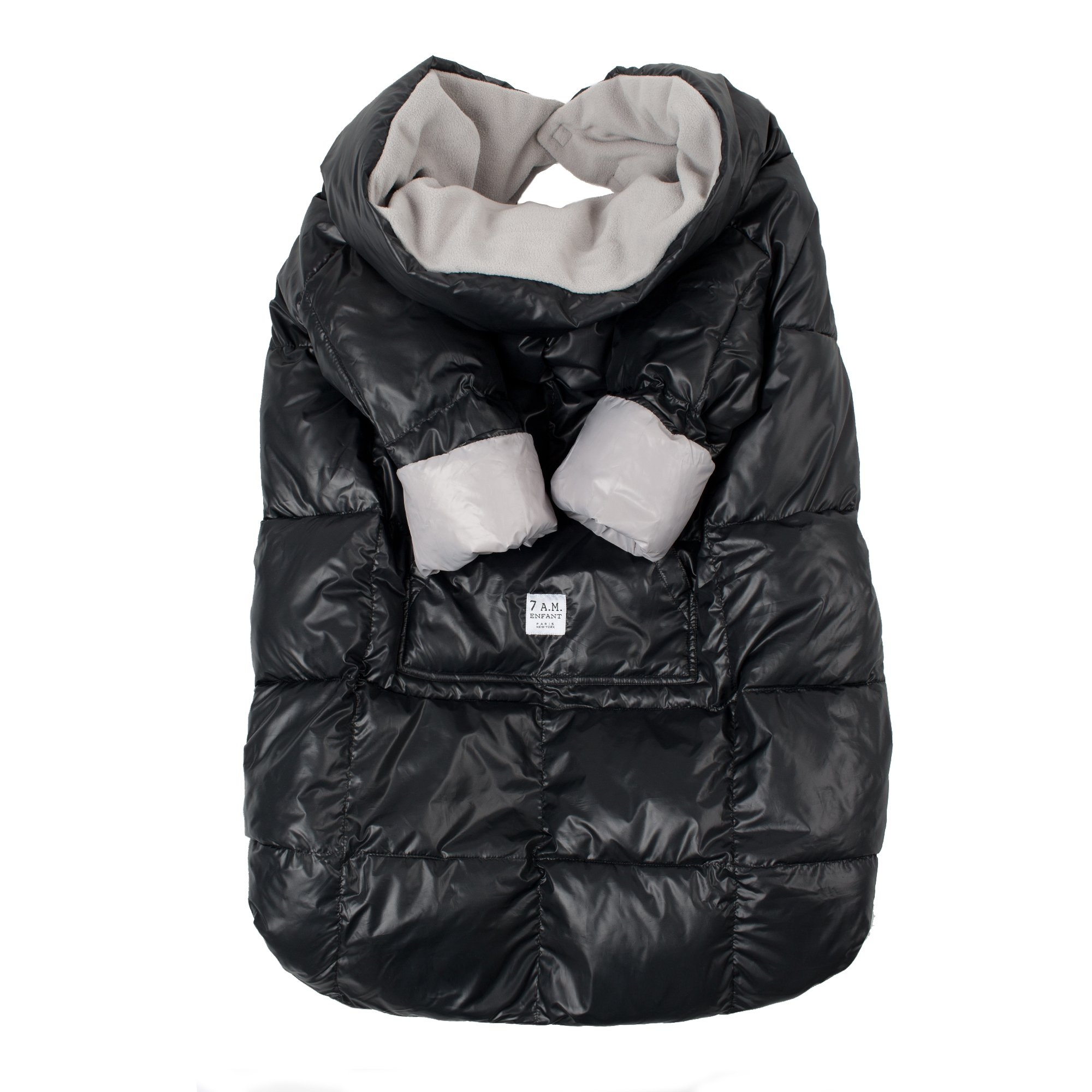 7AM Enfant Easy Cover Bunting Bag, Black, Small