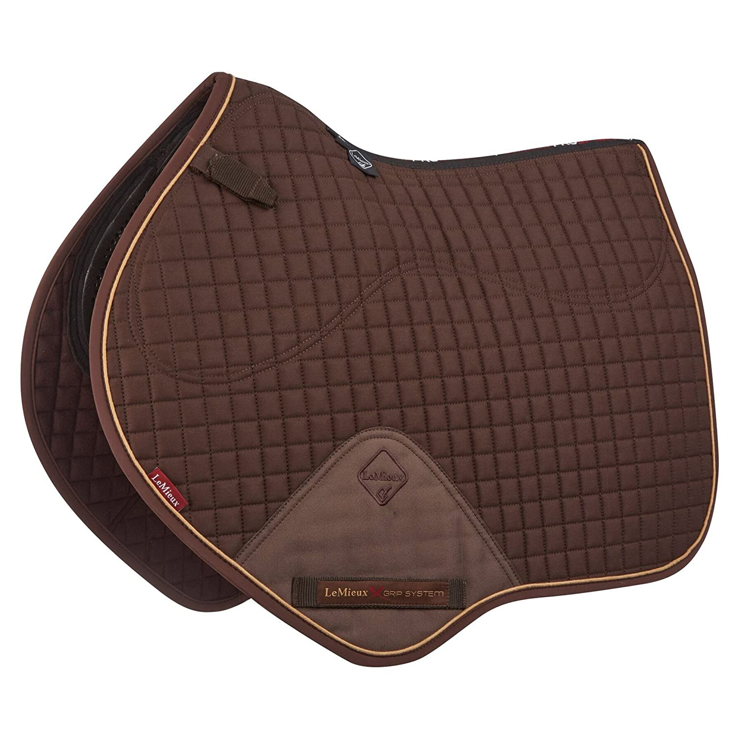 LeMieux X-Grip Single Sided Close Contact Square Saddlepad Brown Large 7618