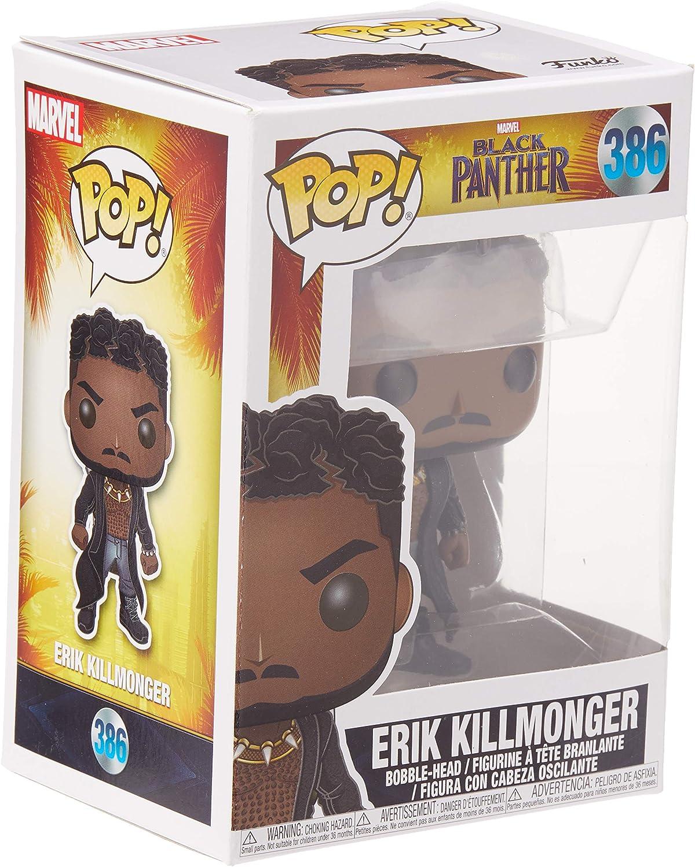 Funko Pop Bobble: Marvel: Black Panther: Killmonger wScars, Multicolore, 33153
