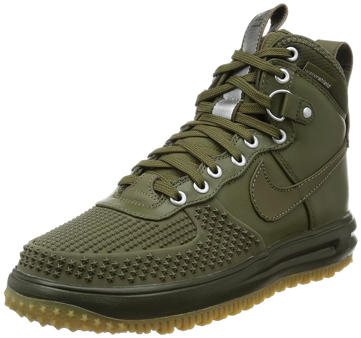 best loved fafbf d59f6 Amazon.com   Nike Mens Lunar Force 1 Duckboot Medium Olive Leather Size 8    Snow Boots