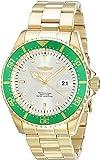 Invicta Men's Pro Diver Gold-Tone Steel Bracelet & Case Quartz Champagne Dial Analog Watch 22067