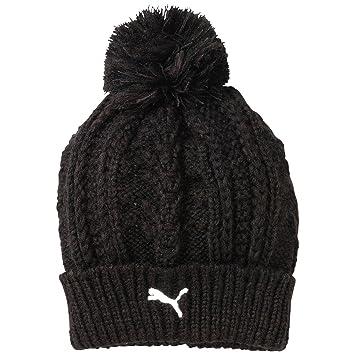 a85ebd23 ... amazon puma mens fold beanie bobble hat black 32735 9726a