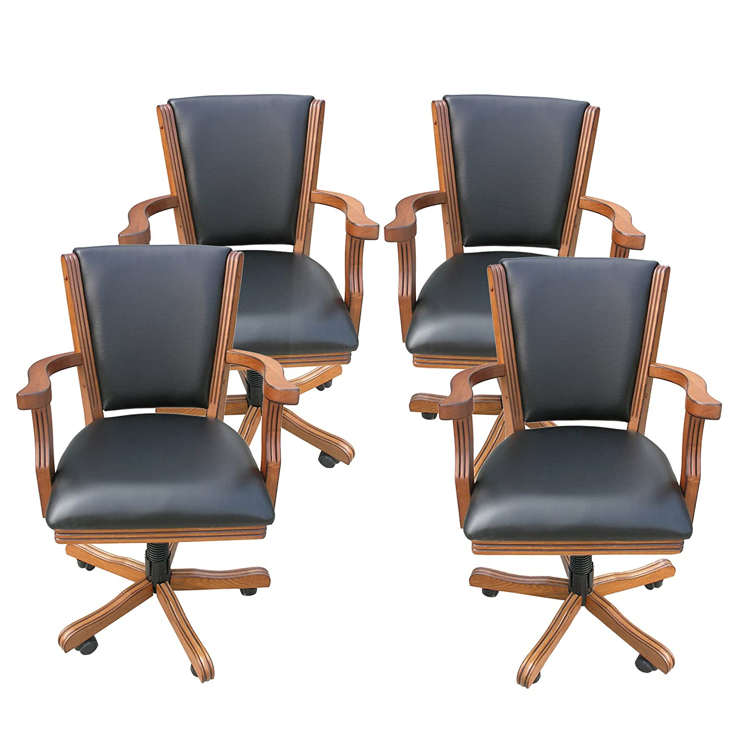 Amazon Kingston Oak Poker Table Arm Chair Set of 4