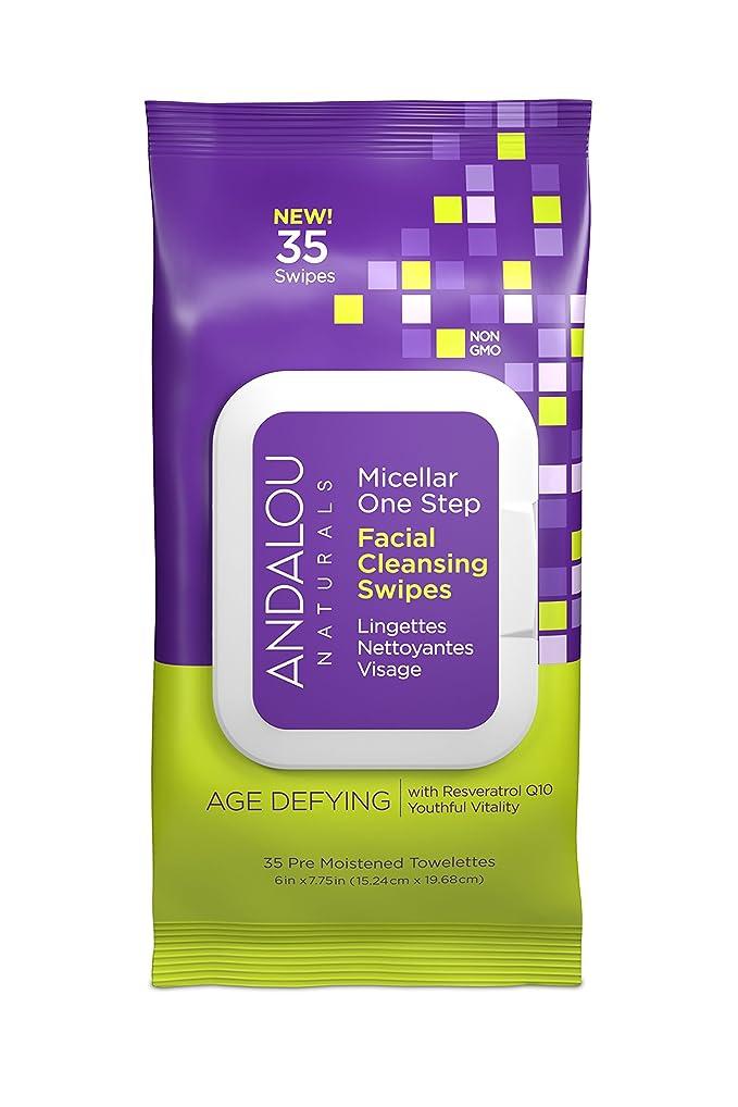 Andalou Naturals Age Defying Micellar Facial Swipes, 35 Count