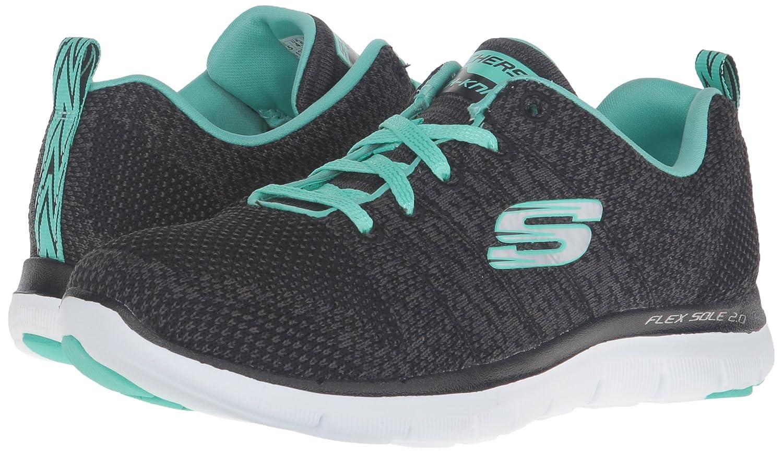 Skechers Damen Flex Appeal 2.0 - Schwarz High Energy Sneaker, Schwarz - (Bkaq) 171460