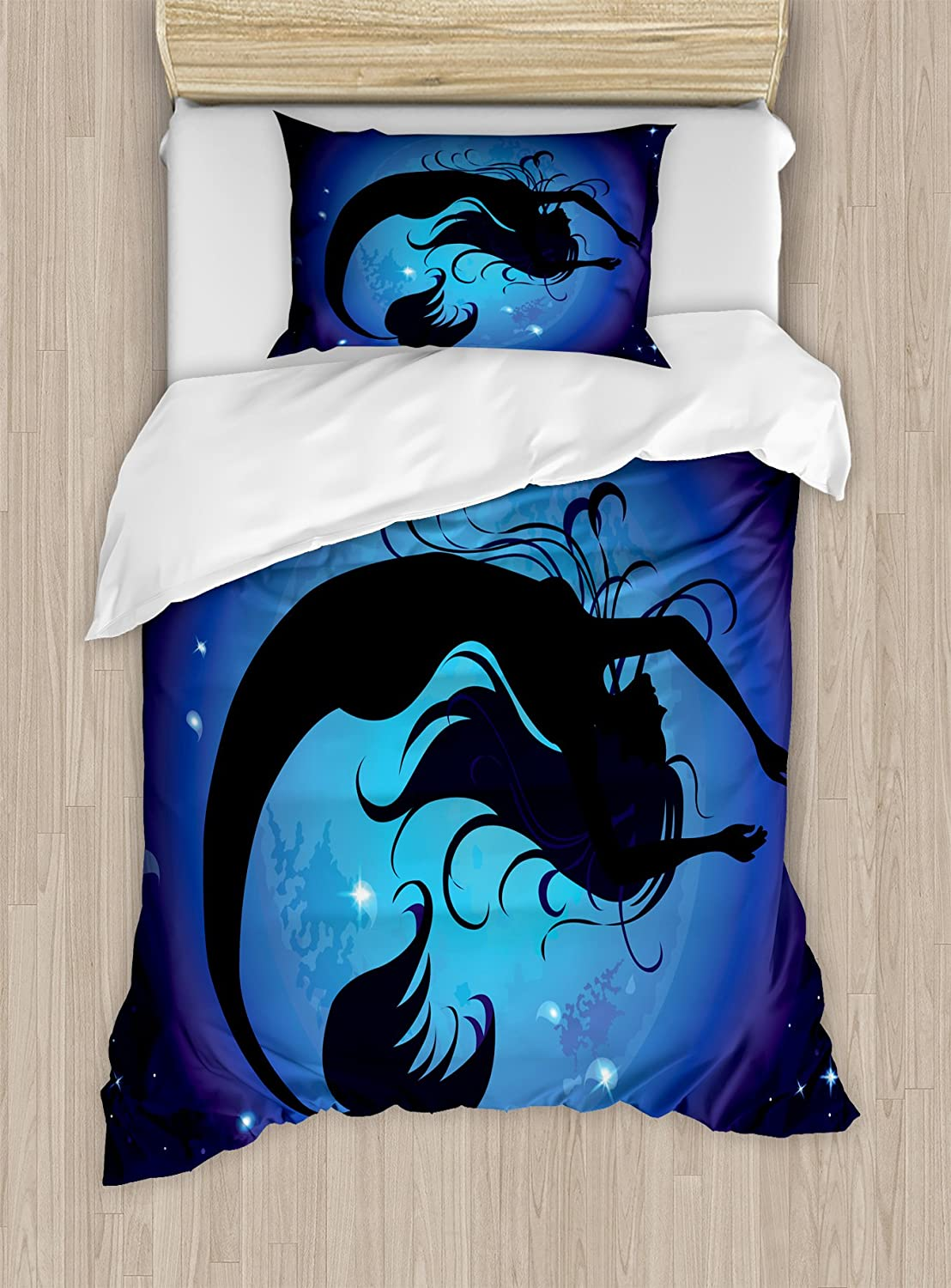 Blue Red Black Decorative 2 Piece Bedding Set with 1 Pillow Sham Abstract Lines Background Ice Hockey Pattern Competitive Match Winter Season Ambesonne Sport Duvet Cover Set Twin Size