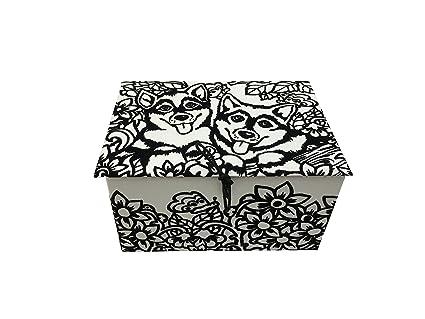 Colorvelvet Caja para colorear terciopelo y cartón: husky, by Artimondo