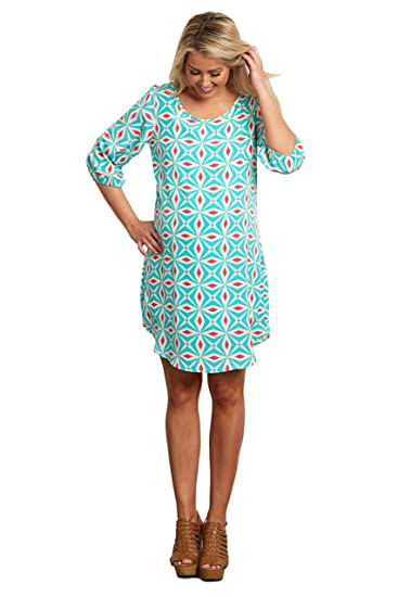 c90f31f945062 PinkBlush Maternity Mint Green Pink Geometric Maternity Dress, XL at Amazon  Women's Clothing store: