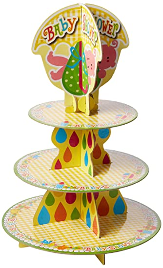 Amazon Forum Novelties Baby Shower Cupcake Stand Multi Color