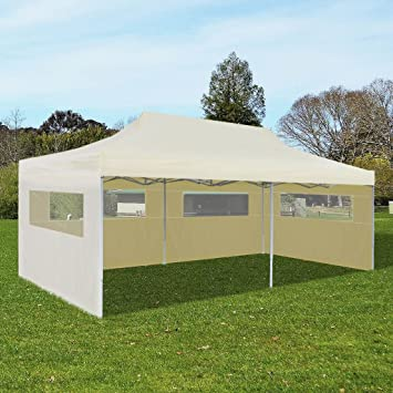 vidaXL Foldable Tent Pop-Up 3x4.5m Anthracite Gazebo Canopy Marquee Pavilion