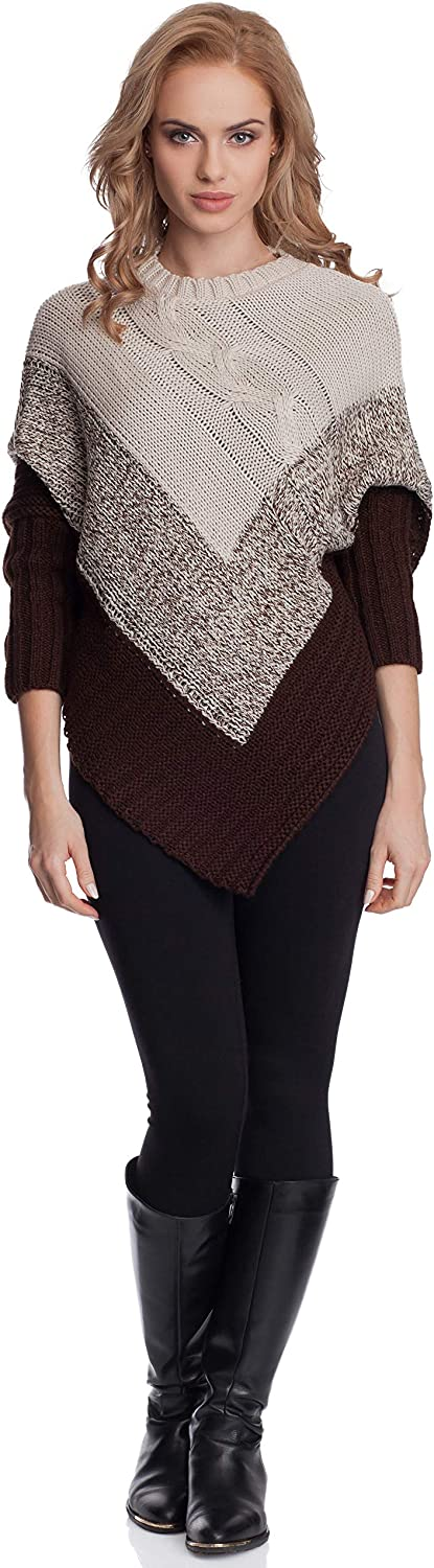Merry Style Poncho con Manchas Murciélago Mujer GR1C2