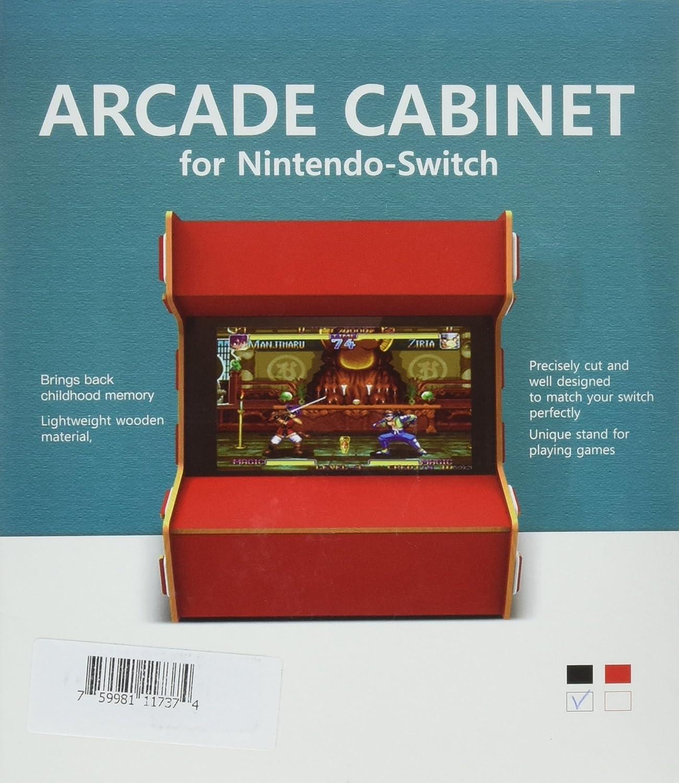 Nintendo Switch Arcade Cabinet Stand, Myriann Único Mano Pura Arcade Gabinete para Nintendo Switch Experiencia de Juego Fresco Trae de Vuelta Nostalgia (Negro): Amazon.es: Bricolaje y herramientas