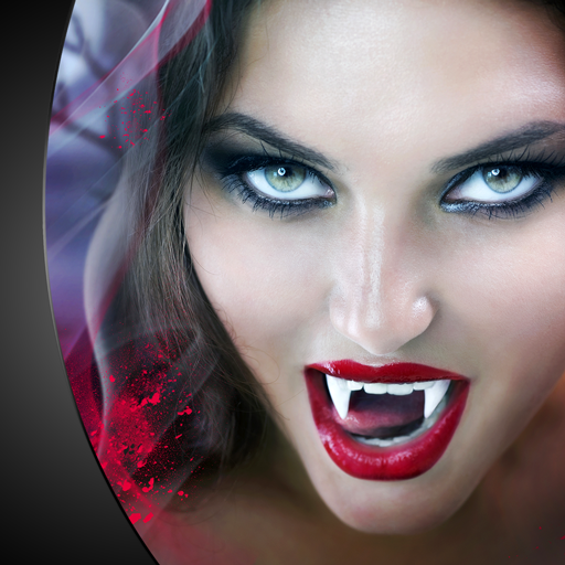Vampire Teeth Photo Montage]()