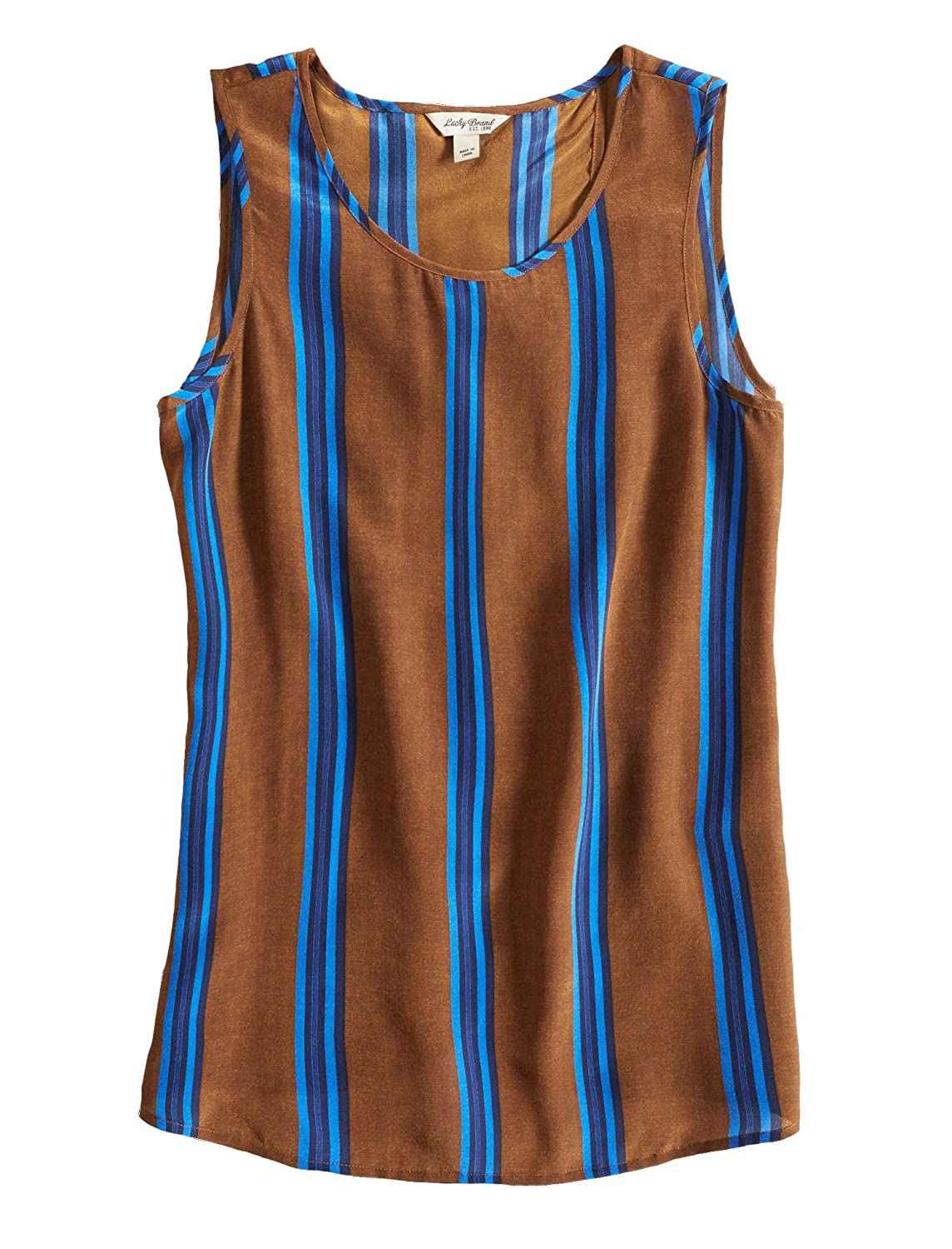 Lucky Brand Women's Striped CrossOver Silk Tank