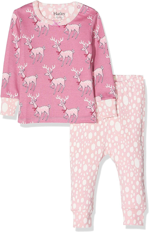 Darling Deer 650 Herstellergr/ö/ße: 18M-24M Hatley Baby-M/ädchen Mini Organic Cotton Long Sleeve Pyjama Sets Zweiteiliger Schlafanzug Pink 18-24 Monate