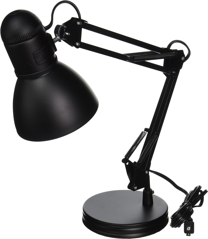 Boston Harbor Tl Wk 134e Bk 3l Swing Arm Adjustable Desk Lamp 60 W A19 Black Amazon Com