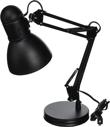 60 W Boston Harbor TL-WK-134E-BK-3L Swing Arm Adjustable Desk Lamp A19 Black