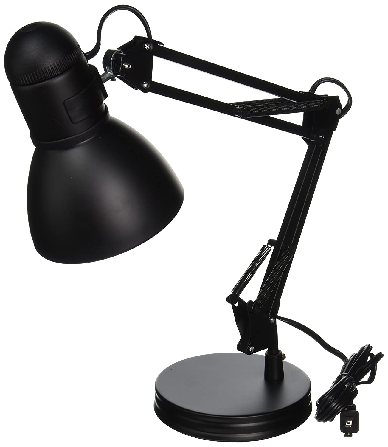 boston harbor architect swing arm desk lamp 26inches black amazoncom