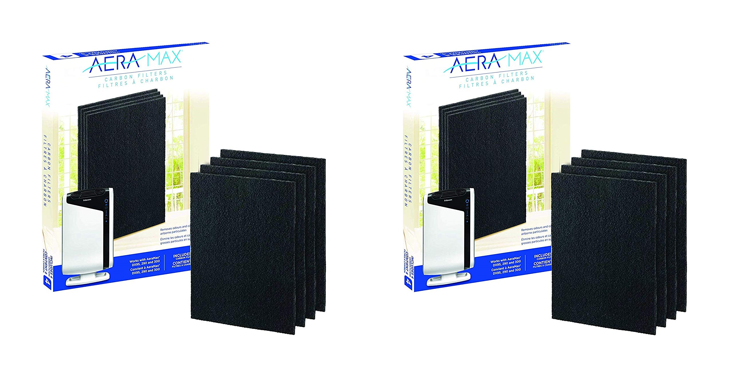 Fellowes Carbon Filters for AeraMax Air Purifiers - 4 Pack (9324201) (Pack of 2)
