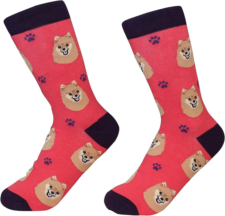 Pomeranian Dog Breed Socks Unisex Sock Daddy by E&S Pets