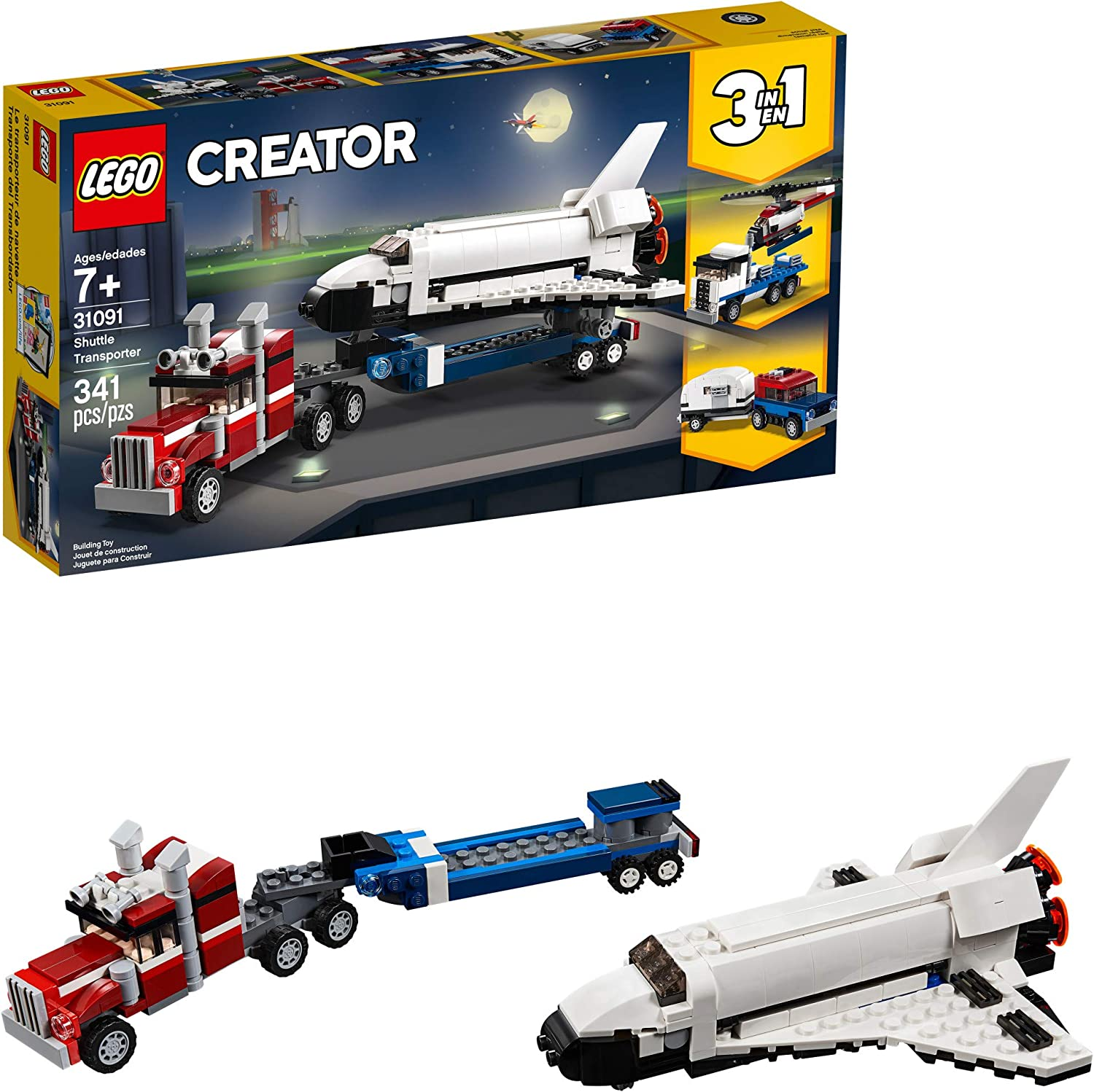 LEGO Creator 3in1 Shuttle Transporter 31091 Building Kit, 2019 (341 Pieces)