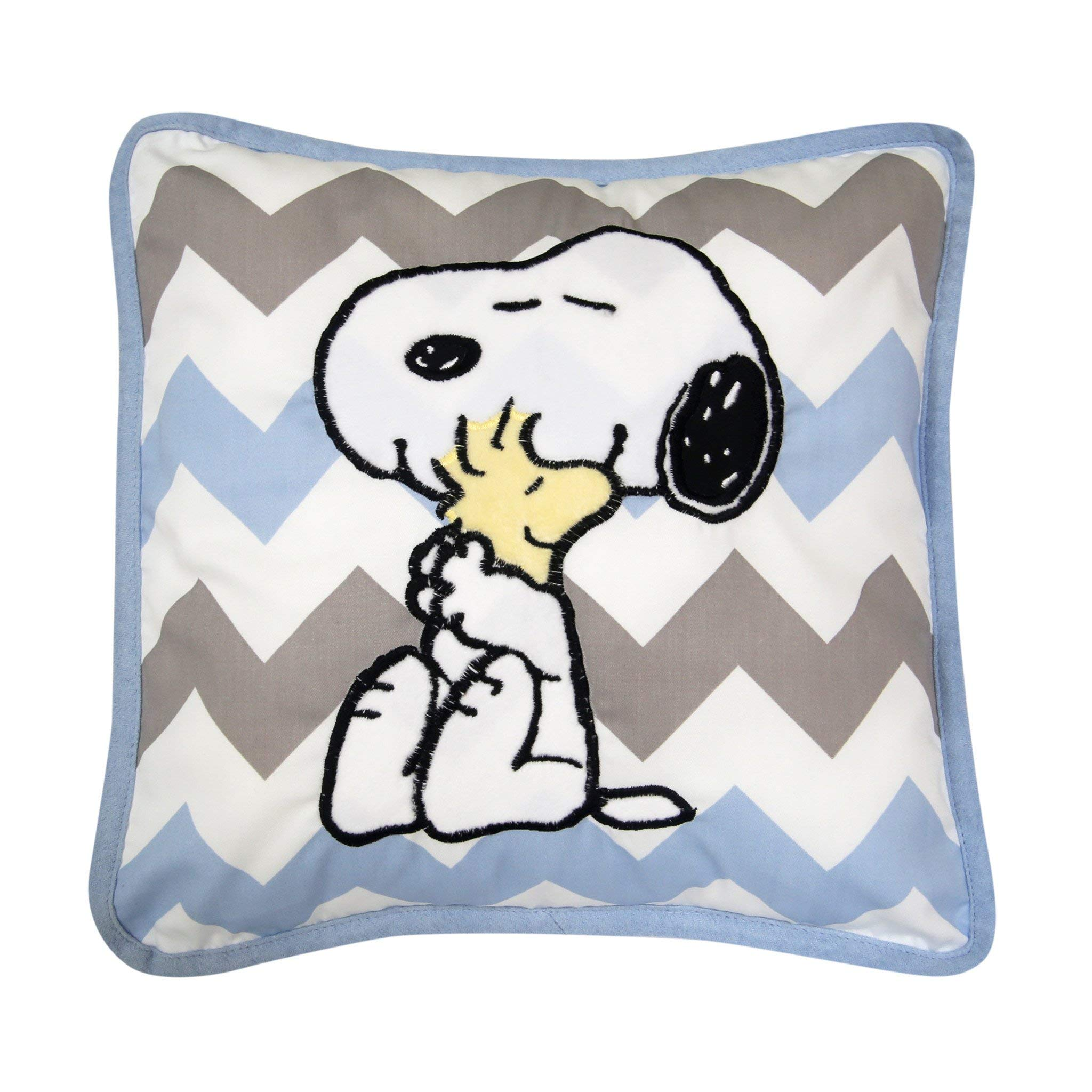 Lambs & Ivy Peanuts My Little Snoopy Decorative Pillow, Blue
