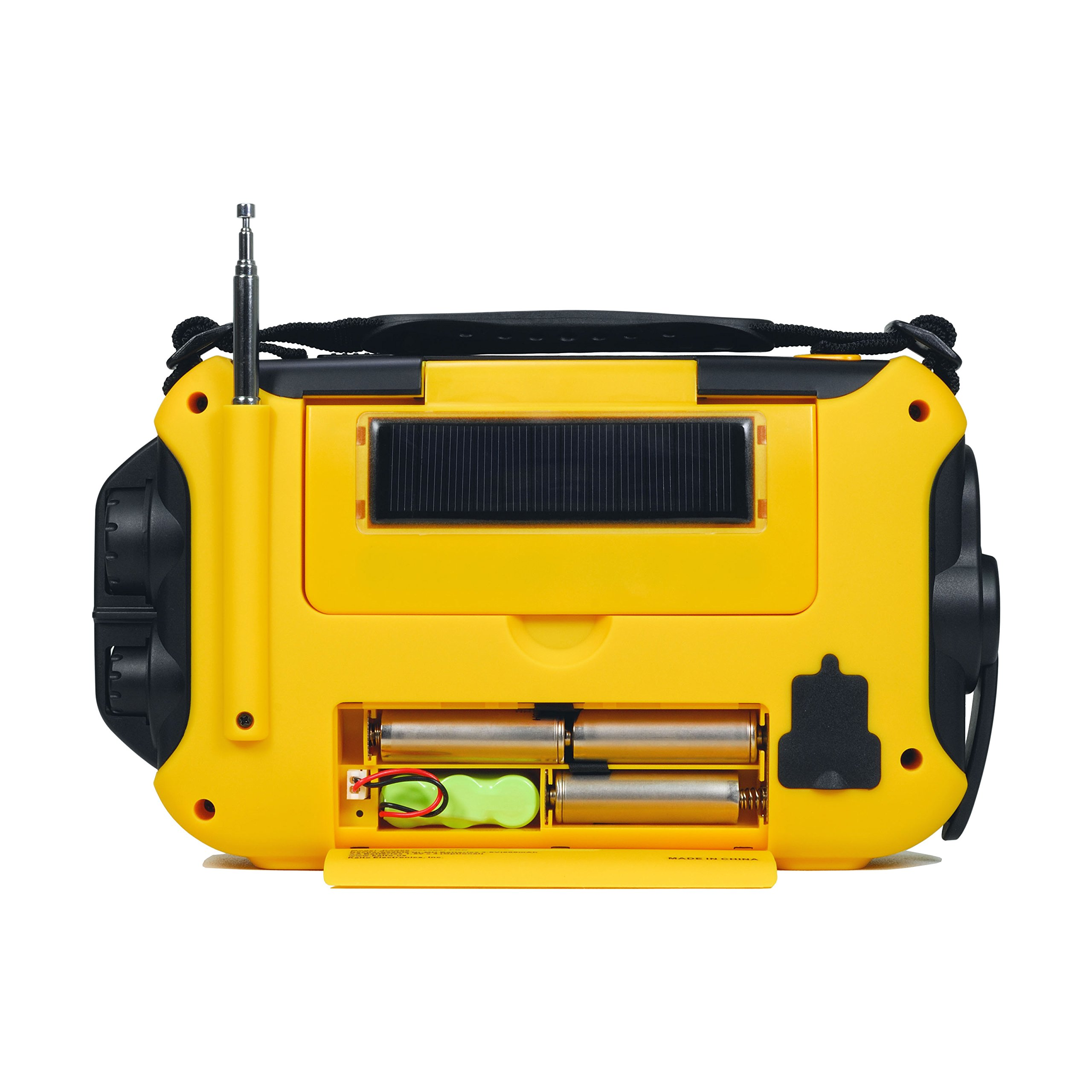 Kaito Voyager Pro KA600 Digital Solar Dynamo Crank Wind Up AM/FM/LW/SW & NOAA Weather Emergency Radio with Alert, RDS & Smart Phone Charger, Yellow (AC Wall Adapter Included) by Kaito (Image #7)
