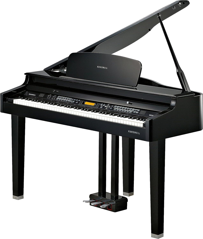 Kurzweil Home MPG100 88-Note Digital Mini Size Baby Grand Piano, Black (MPG100)