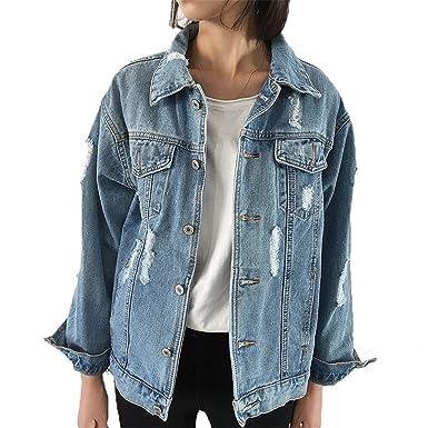 LeNG Jean Jackets New Spring Women Denim Coats Loose Long Sleeved Female Jacket Large Size Mujer