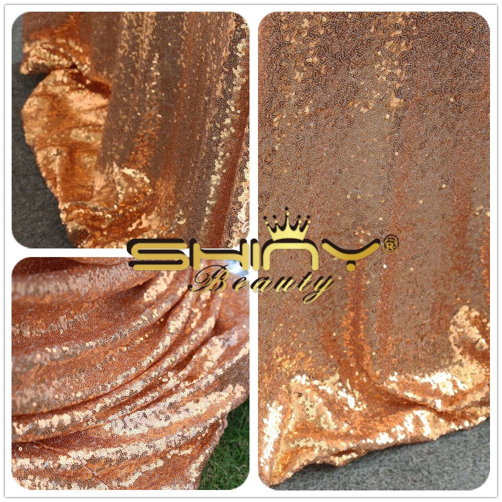 Rose Gold Sequin Fabric 24 Feet Sparkle Sequins Fabric by The 8 Yards Sequin Linen for Dress Clothing Making Home Decor~1025E