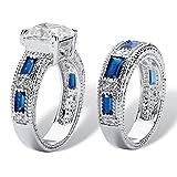 Palm Beach Jewelry Emerald-Cut White and