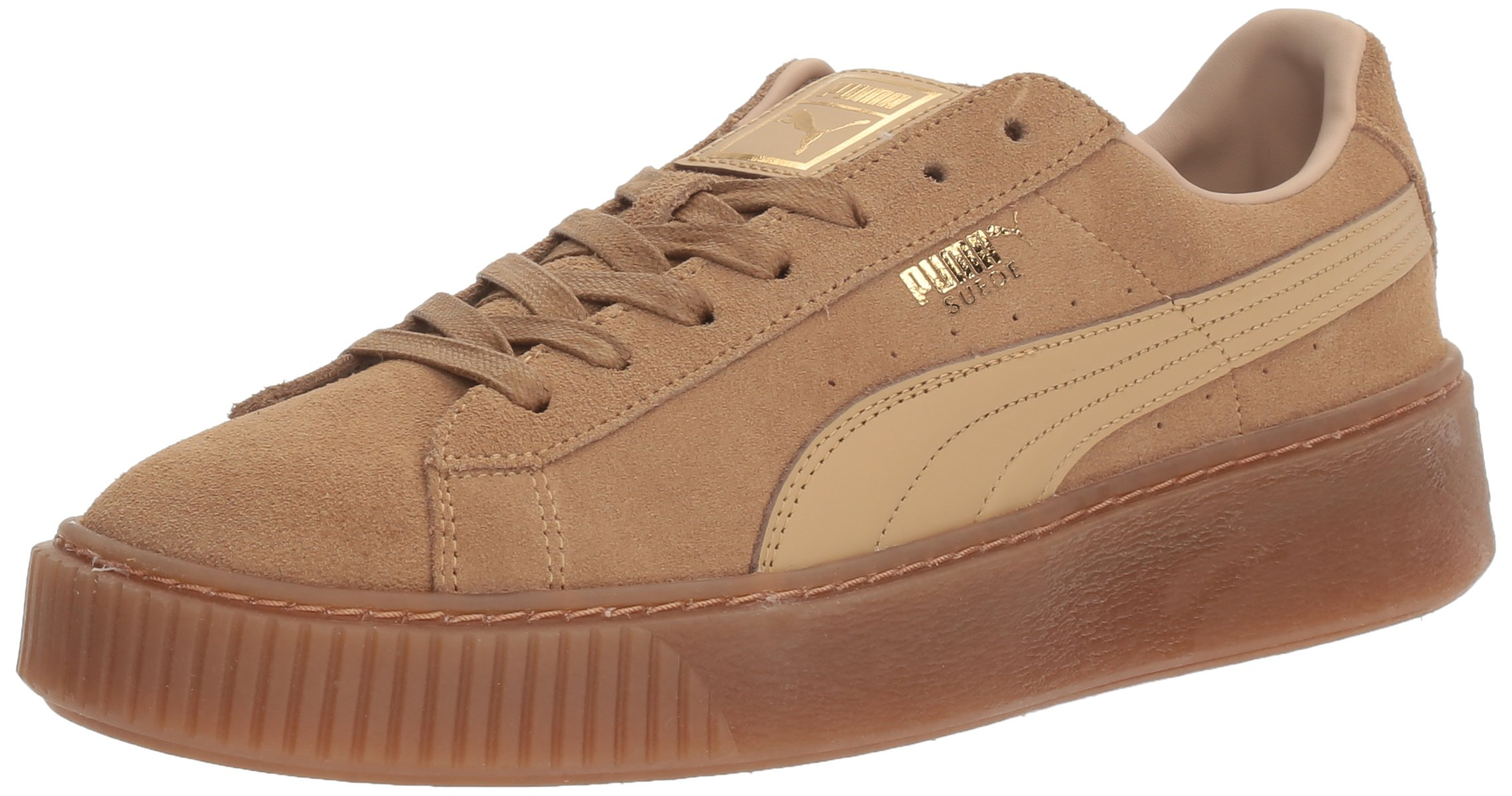 PUMA Women's Suede Platform Core, Oatmeal-Whisper White, 11 M US