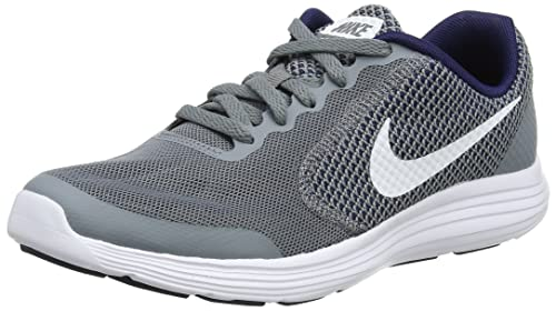 c1901f6d83d3fe Nike Jungen Revolution 3 (GS) Laufschuhe Grau (Cool Grey White-Binary