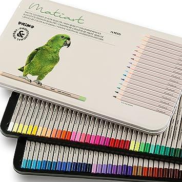 Juego de 72 lápices de colores Primo, para pintar, dibujar, colorear, aptos