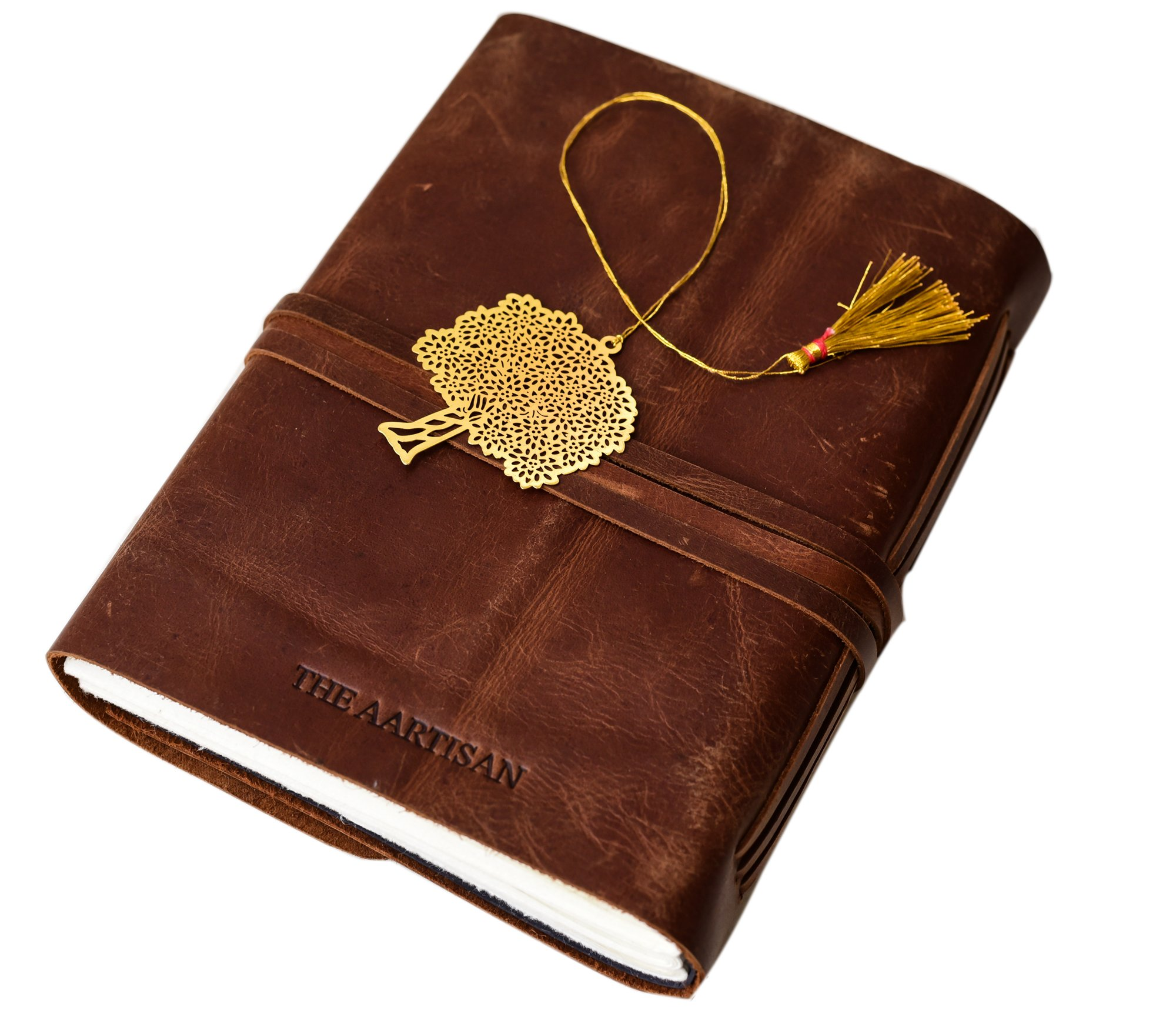 Premium Leather Journal Writing Notebook - Antique Handmade Leather Bound Daily Notebook for Men & Women, Best Gift for Art Sketchbook, Travel Diary & Notebooks to Write in