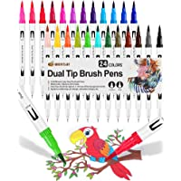 24 Colores con Rotuladores Lettering, Rotuladores Punta Pincel Acuarelables Marcadores para Adultos, Bullet Journal…