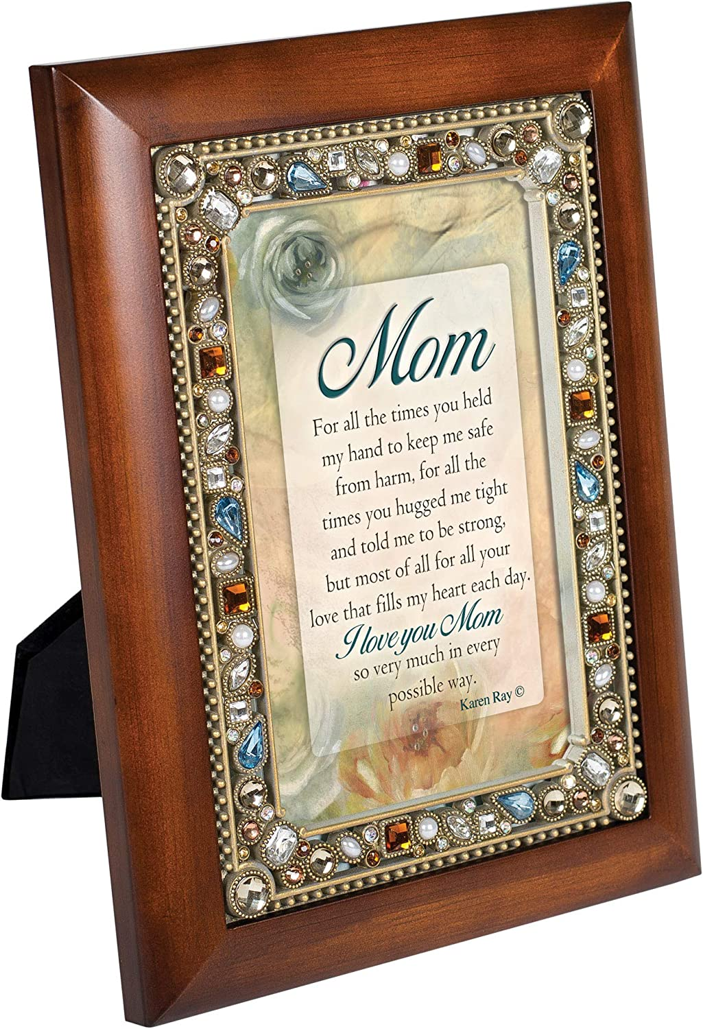 Cottage Garden for All The Times You Held My Hand Woodgrain Easel Back Photo Frame