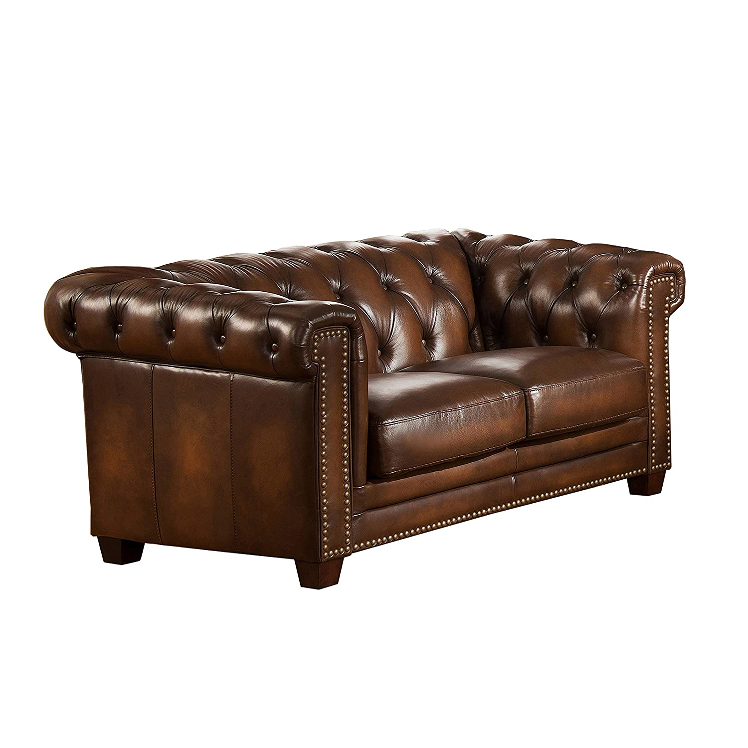 Amazon Amax Leather Stanley Park II 100% Leather Sofa and