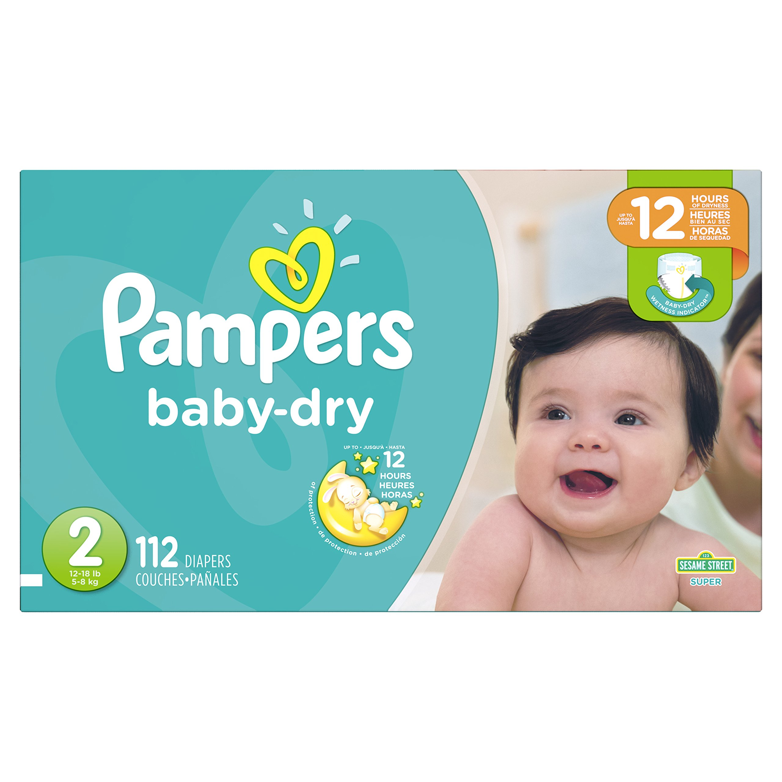 Diapers Size 2, 112 Count - Pampers Baby Dry Disposable Baby Diapers, Super Pack by Pampers