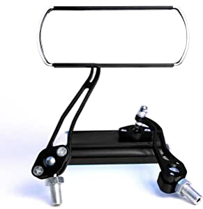 Bike Handlebar Mirror Handlebar Mount, Rear-View Bicycle Mirrors Cycling Accessories Adjustable Lens for Beach Cruisers Mountain Road Hybrid BMX Motorcycle Recumbent Trike Electric Bike Scooter