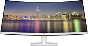 "HP 34f 34"" Curved Monitor with AMD FreeSync Technology 