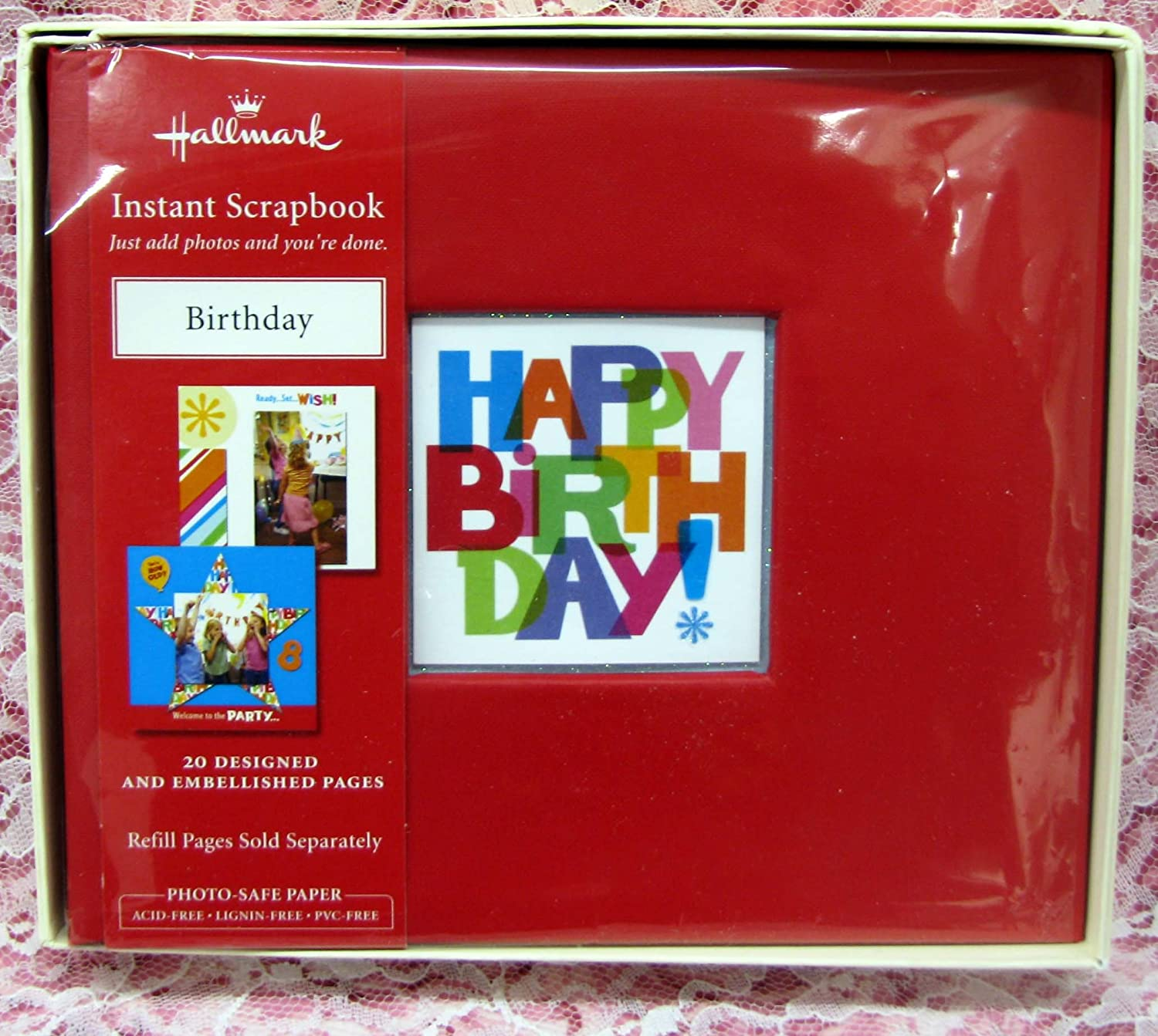 Amazon Com Hallmark Sbk5536 Happy Birthday Instant Scrapbook