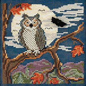 Mill Hill Beads Buttons Counted Cross Stitch kit - Night Owl
