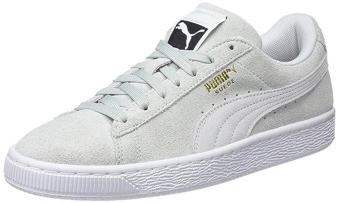 Puma Suede Classic Sneaker Damen Herren Unisex Wildleder Blau (Blue Flower)