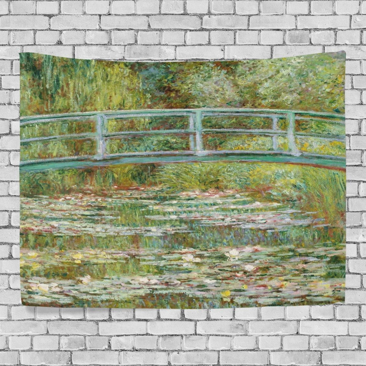 Monet Tapestry Wall Hanging Scenery Pattern Blanket for Wall Art Decor for Living Room and Bedroom 80 x 60 Inches