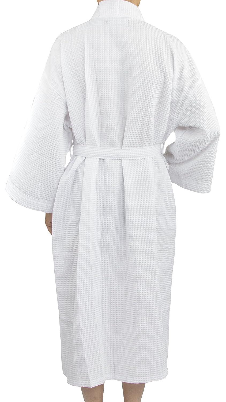 Leisureland Men s Spa Gym Waffle Weave Kimono Bathrobe Robes 48